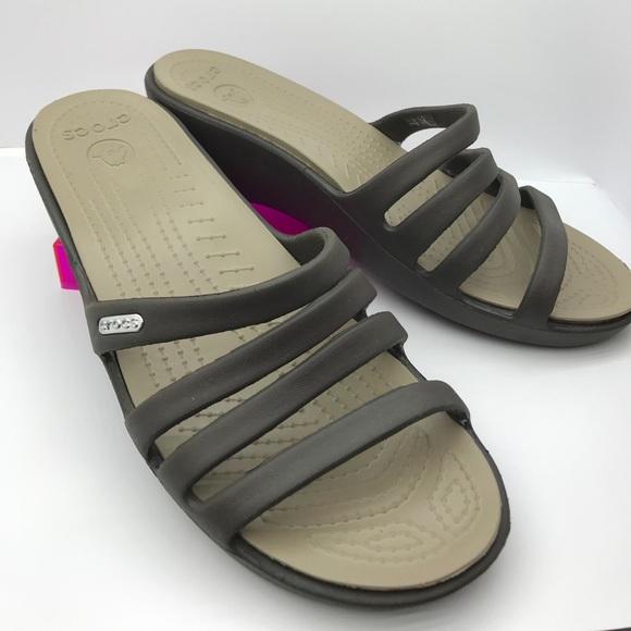 """c14d124175a CROCS Shoes - Crocs """"Rhonda"""" wedge Color  Espresso"""